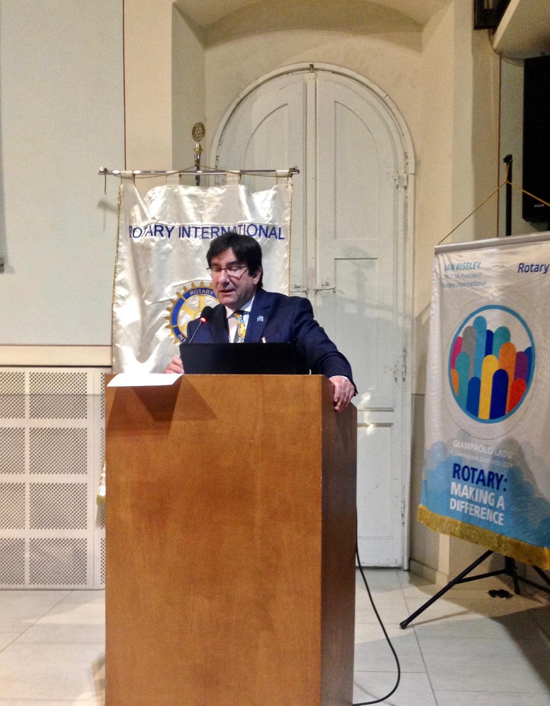 1IN RICORDO LivorNO10.02.2018 M.Tacchi presenta il sui programma alla Squadra distrettuale