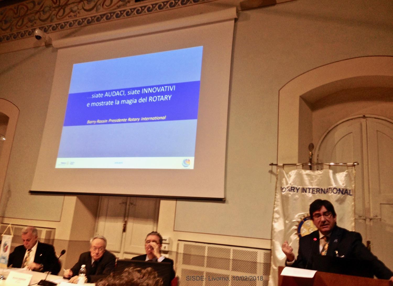 3IN RICORDO Livorno 10.02.2018 M.Tacchi presenta il sui programma alla Squadra distrettuale