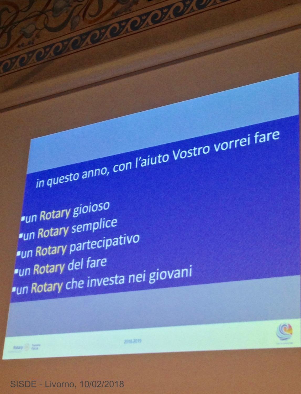 5IN RICORDO Livorno 10.02.2018 M.Tacchi presenta il sui programma alla Squadra distrettuale